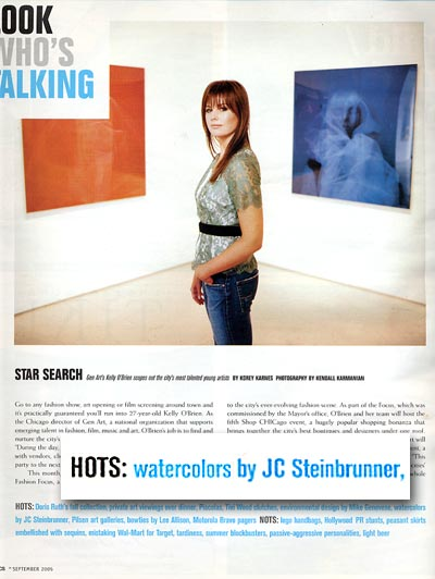 JC Steinbrunner declared what's hot in CS by Kelly O'Brien of GenArt and Michigan Avenue magazine.